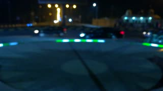 Night street cars record normal cars daily