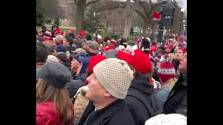 The Real Trump Rally yesterday Patriots Singing