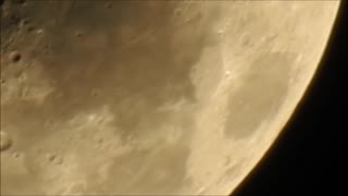 Extremely Clear zoom of Xmas Eve Moon with P900   - Video
