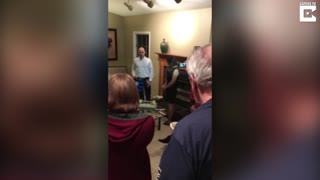 Boyfriend Proposes At His Own Surprise Birthday Party  - Video