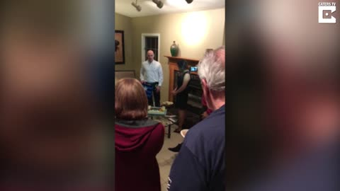 Boyfriend Proposes At His Own Surprise Birthday Party