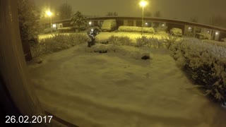 Snow in Iceland Timelapse - Video