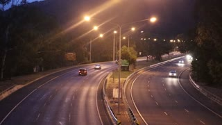 Night road Camera Footage capture Accidents
