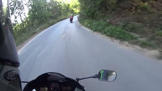 When you belive in yourself too much Motorcycle-fail