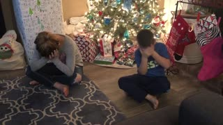 Kids surprised with Golden Retriever puppy for Christmas
