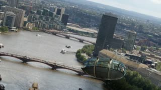 London Eye Pod takes flight! Unbelievable . . .