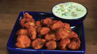 Buffalo Cauliflower Bites - Game Day Food - Video
