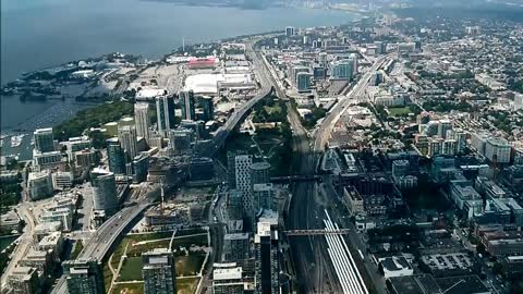 Toronto time lapse from the CN Tower