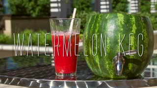 The Watermelon Keg - Aqua Fresca Recipe - Great DIY - Video