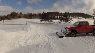 Coolest way ever to plow snow? - Video