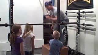CrossFit Kids: Fitness Lonnie Vs. Little Girl - Video