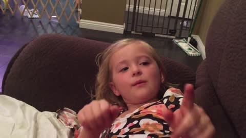 Little girl confuses Donald Trump with a DJ