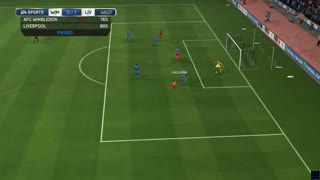 AFC Wimbledon v Liverpool - English FA Cup -  Simulation FIFA EA - Video