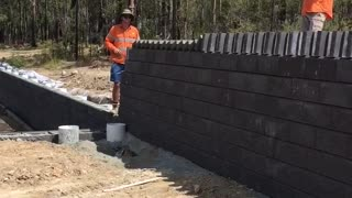 They Were Capping The Wall When One Brick Fell, And It All Started - Video
