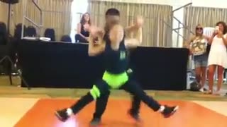little boy and girl dance - Video