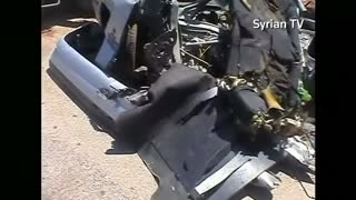 Israeli air raid hits vehicle in Syrian Golan Heights - Video