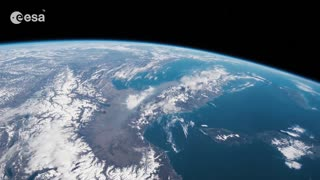 Vew from the ISS orbiting over Italy to Indian Ocean - Video