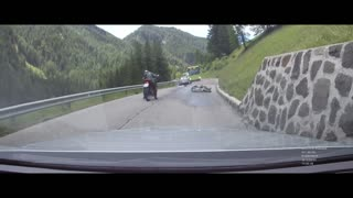 Winding Road Motorcycle Crash - Video