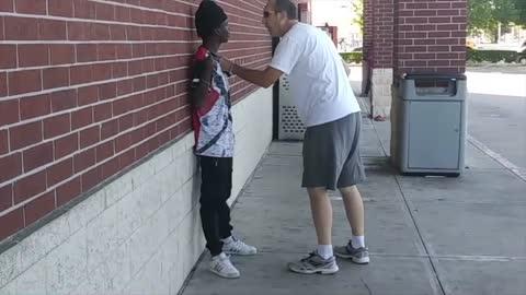 "Veteran stops man who threatens to kill him after saying ""white boy, I know you have money"""