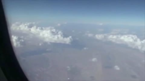 UFO Caught On Footage From Airplane Window