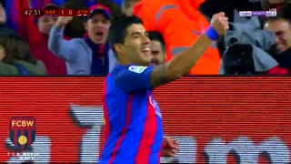 Gol de Luis Suarez vs Atletico Madrid [7/2/2017} - Video