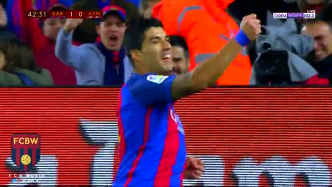 Gol de Luis Suarez vs Atletico Madrid [7/2/2017}