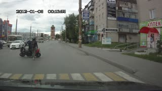 Motorcycle Wheelie Fail - Video