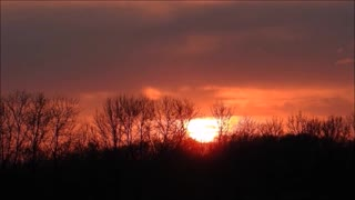 A Prairie Manitoba Sunset  - Video
