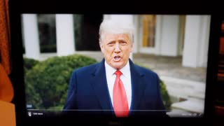 President Trump's message of peace to his supporters 1-6-2021