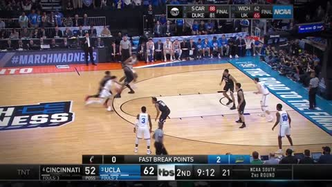 Lonzo Ball TAKES OVER vs Cincinnati in Round of 32 at 2017 NCAA Tournament