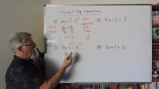 Math Solving Equations Set A 01 Simple 2 Step Equations Mostly for Years 7, 8 and 9