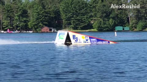 Water ski ramp boat fail face plant