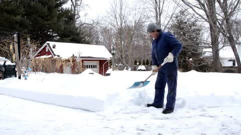 How to shovel snow the easiest & safest way! Aching back NO MORE