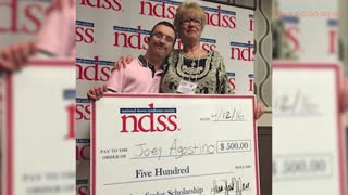 National Down Syndrome Society Scholarship Winner's Dreams Come True! - Video