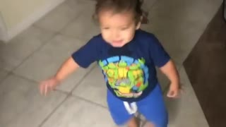 Collab copyright protection - baby boy blue shorts dad scare