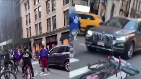 BLM Gang Assaults Mother & Son In BMW - NYC