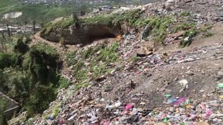 Trash Mountain In Haiti - Video
