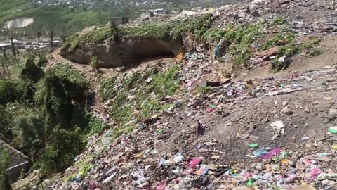Trash Mountain In Haiti