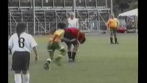 Soccer Girl Kicks Ball Straight Into Ref's Crotch