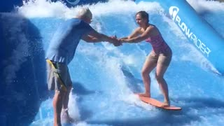 Girl Wipes Out And Takes Gramps With Her - Video