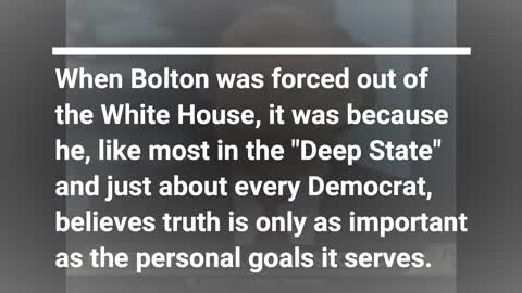 John Bolton Once Said On Live TV He Would Lie If He Thought National Security Were At Stake