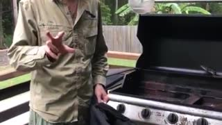 Snake in a BBQ