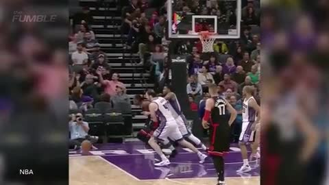 Rudy Gay Throws Shoe At Fan's Head