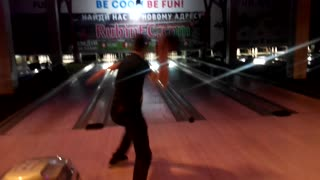 Falling over bowling throw - Video