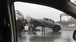 Driver Trapped Under RV After Crashing