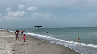 WWII plane forced to crash land on Florida beach