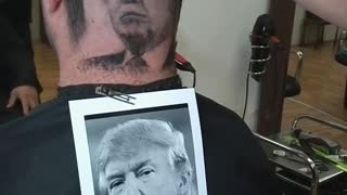 Donald Trump Portrait Hair Cut - Video