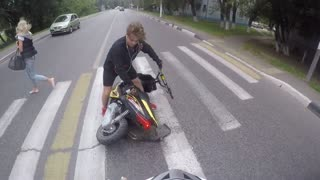Sudden Stop While Performing Scooter Wheelie