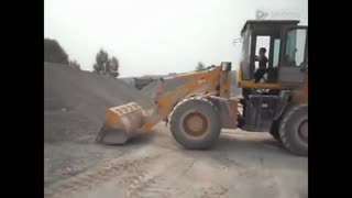 5 year little old boy drives front loader, amazing video will leave you speechless