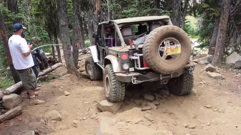 #Mandi taking on the Lil Rubicon, on the Rocky Saddle Trail